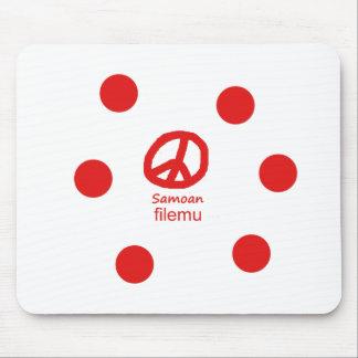 Samoaische Sprache und Friedenssymbol-Entwurf Mousepad