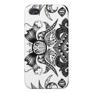Samoaischer Stammes- Tätowierungs-Entwurf iPhone 4 Schutzhüllen