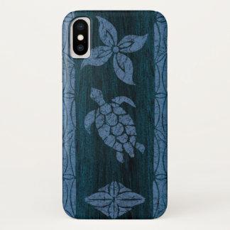 Samoaischer Tapa-hawaiisches Imitat-Holz-Surfbrett iPhone X Hülle