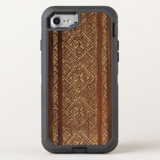 Samoaischer Tapa-hawaiisches Imitat-Holz-Surfbrett OtterBox Defender iPhone 8/7 Hülle