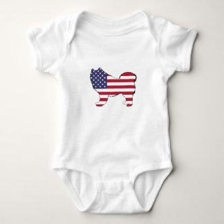"""Samoyed - """"amerikanische Flagge """" Baby Strampler"""