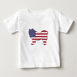 """Samoyed - """"amerikanische Flagge """" Baby T-shirt"""
