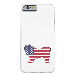 """Samoyed - """"amerikanische Flagge """" Barely There iPhone 6 Hülle"""