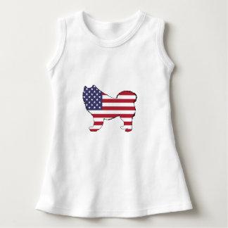 "Samoyed - ""amerikanische Flagge "" Kleid"