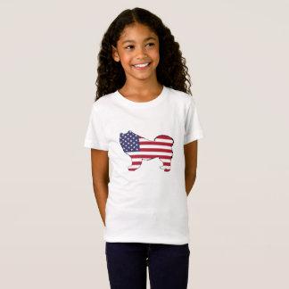 """Samoyed - """"amerikanische Flagge """" T-Shirt"""