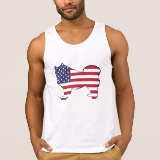 """Samoyed - """"amerikanische Flagge """" Tanktop"""