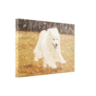 "Samoyed-Kunst wickelte Leinwand 24,00"" x 16.00X1.5"