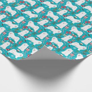 Samoyed-WeihnachtsPackpapier Geschenkpapier
