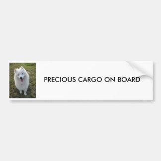 Samoyed, WERTVOLLE FRACHT AN BORD des Autoaufkleber