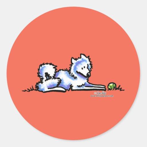 Samoyed-Zeit heraus Sticker