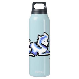 Samoyed-Zeit heraus Isolierte Flaschen