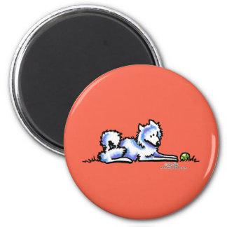 Samoyed-Zeit heraus Magnets
