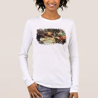Samson verriet durch Delilah (Öl auf Leinwand) Langarm T-Shirt