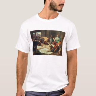 Samson verriet durch Delilah (Öl auf Leinwand) T-Shirt