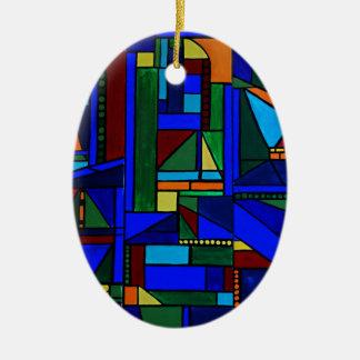Samstag an den Segelbootrennen Ovales Keramik Ornament