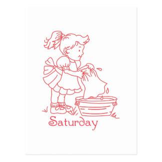 Samstag Postkarte