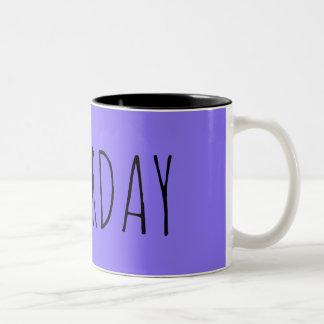 Samstag Zweifarbige Tasse