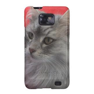 Samsung rufen Fall mit sibirischer Katze an Galaxy S2 Cover
