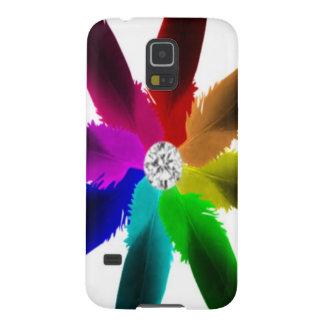 Samsung-Verbindungen rufen Fall - Regenbogen der Galaxy S5 Cover