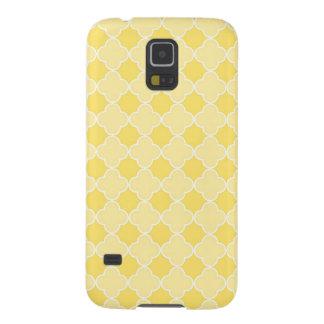 Samsung-Zitrone Quatrefoil Muster Galaxy S5 Hüllen