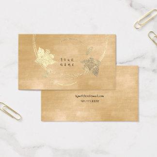 Samt-sahniges Foxier Goldelfenbein-mit Visitenkarte