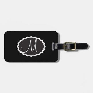 Samtschwarze Gepäck-Taschen-Umbau-Schablone Kofferanhänger