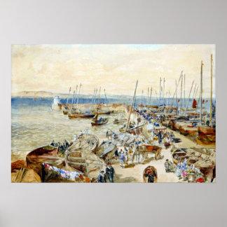 Samuel-Ast-New-Haven Hafen auf Förde von weiter Poster