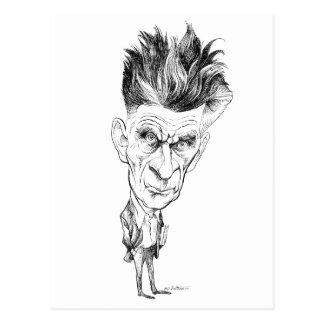 Samuel Beckett-Karikatur durch Edmund S Valtman Postkarte