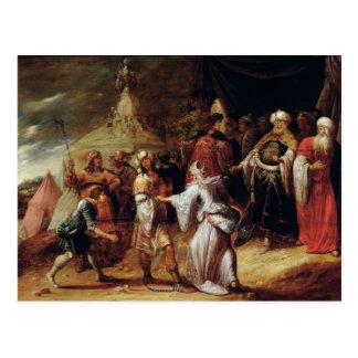 Samuel, der Agag, König des Amalekites tötet Postkarte