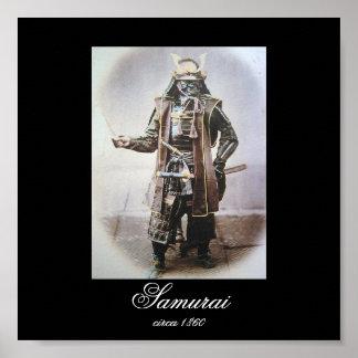 Samurai in der Rüstung circa 1860 (Foto-) Plakat
