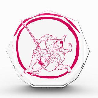 Samurai Jui Jitsu, der Enso Zeichnen kämpft Auszeichnung