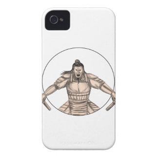 Samurai-Krieger, der die zwei Case-Mate iPhone 4 Hülle