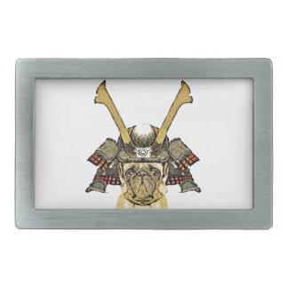 samurai_pug rechteckige gürtelschnalle