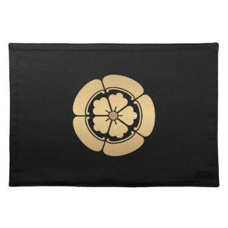 Samuraiclan Oda Montag bürstete Gold auf Schwarzem Tischset