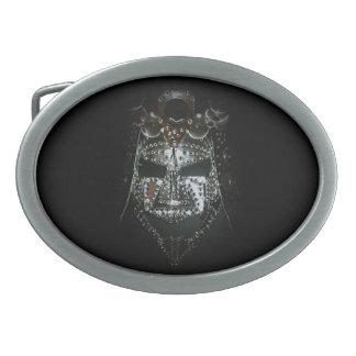 Samuraimaske Ovale Gürtelschnallen
