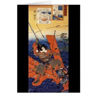 Samurais am Krieg, circa 1800's Karte