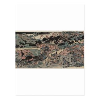 Samurais am Krieg (verwickelt einzeln aufgeführt) Postkarte