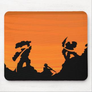 Samurais am Sonnenuntergang Mauspads