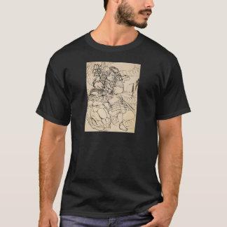 Samurais, die Schlange C. 1800's besiegen T-Shirt
