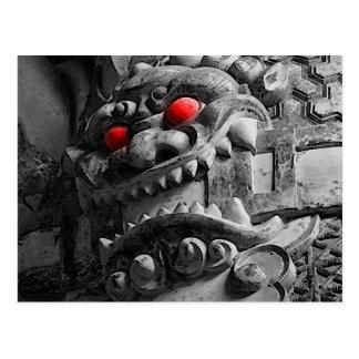 Samurais Oni Maske 赤鬼 Postkarte
