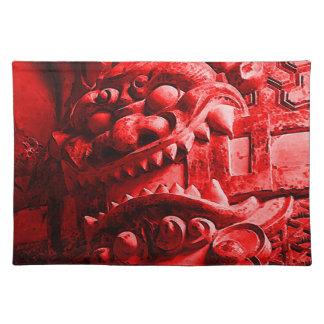 Samurais Oni Maske 赤鬼 Tischsets