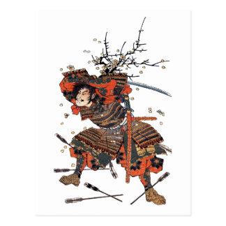 Samurais Postkarte