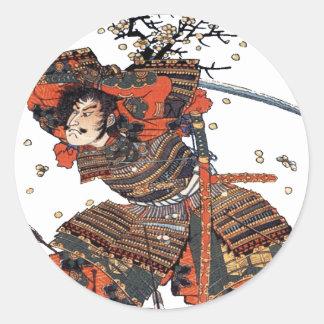Samurais Runder Aufkleber