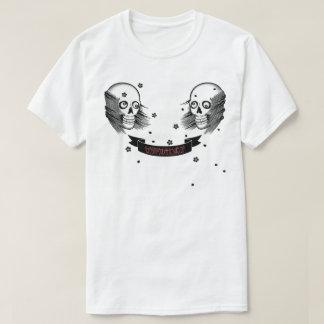 Samuraischädel und Kirschblüte T-Shirt