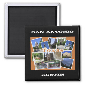 San Antonio/Collage Austins Texas Quadratischer Magnet