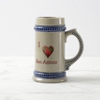 San Antonio -- mit Roter Rose Bierglas