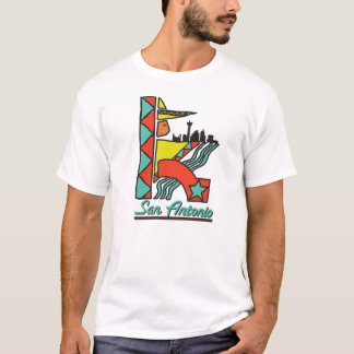 San- Antoniographik-T-Stück T-Shirt