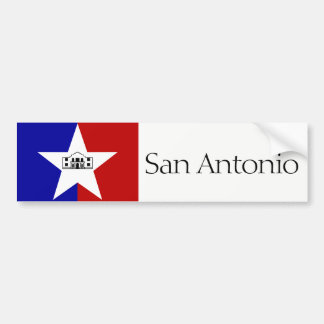 San- Antoniostadtflaggen-Autoaufkleber Autoaufkleber