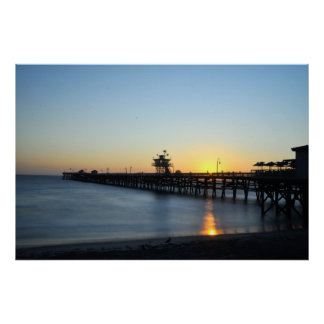 San Clemente-Pier Plakatdruck