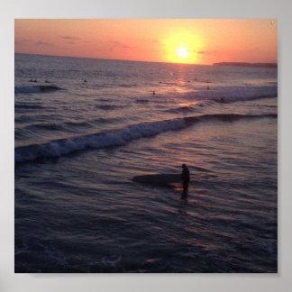 San Clemente-Sonnenuntergang Poster